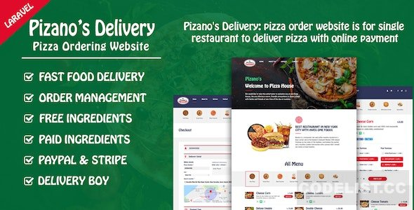 Pizano's Delivery v1.0 – Unlimited pizza order website