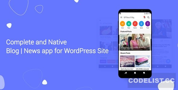Blog and News app for WordPress Site with AdMob and Firebase Push Notification v1.4