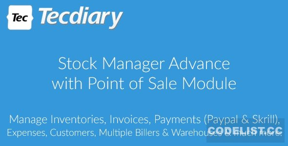 Stock Manager Advance with Point of Sale Module v3.4.40