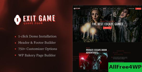 Nulled Exit Game v1.2.2 – Real-Life Room Escape WordPress Theme NULLED