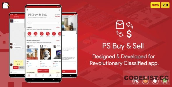 PS BuySell v2.9 – ( Olx, Mercari, Offerup, Carousell, Buy Sell ) Clone Classified App