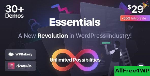 Nulled Essentials v1.1.1 – Multipurpose WordPress Theme NULLED
