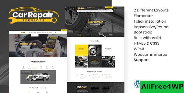 Nulled Car Repair Services & Auto Mechanic v3.5 – WordPress Theme + RTL NULLED