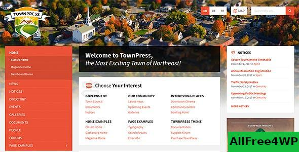 Nulled TownPress v3.6.1 – Municipality WordPress Theme NULLED