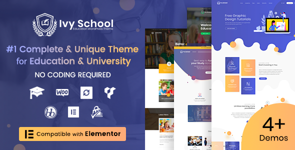Nulled Ivy School v1.3.6 – Education, University & School Theme NULLED