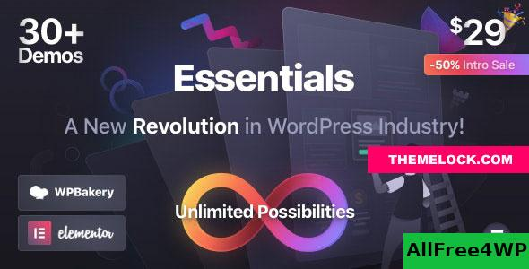 Nulled Essentials v1.1.3 – Multipurpose WordPress Theme NULLED