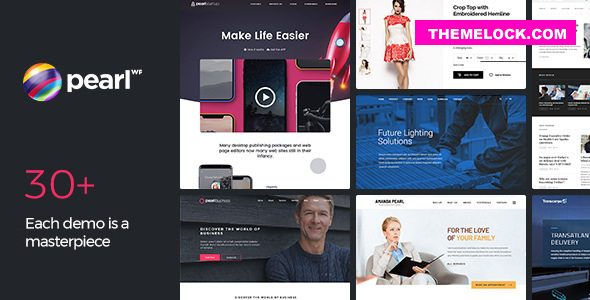 Nulled Pearl WP v3.2.4 – Corporate Business WordPress Theme NULLED