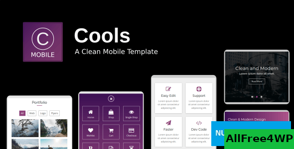 Cools v1.0 - A Clean Mobile Template