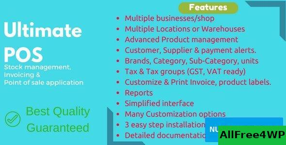Ultimate POS v3.6 - Best Advanced Stock Management, Point of Sale & Invoicing application - nulled