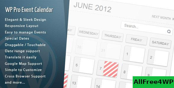WordPress Pro Event Calendar v3.2.4