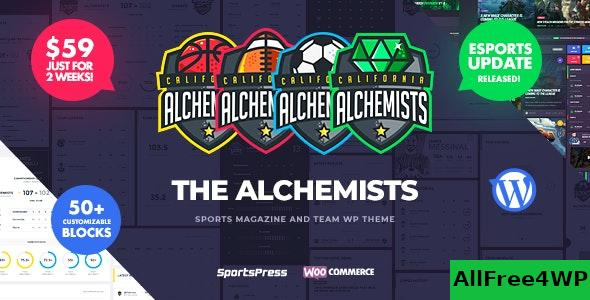 Nulled Alchemists v4.3.2 – Sports, eSports & Gaming Club and News WordPress Theme NULLED