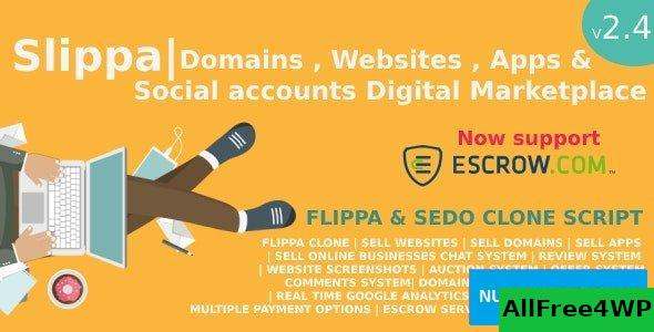 Slippa v2.4 – Domains,Website ,App & Social Media Marketplace PHP Script