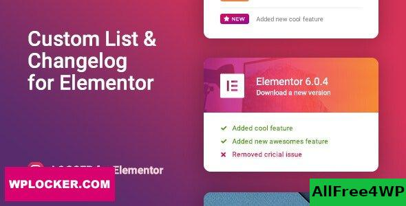 Logger v1.0.5 - Changelog & Custom List for Elementor