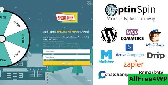 OptinSpin v2.1.7 - Fortune Wheel Integrated With WordPress