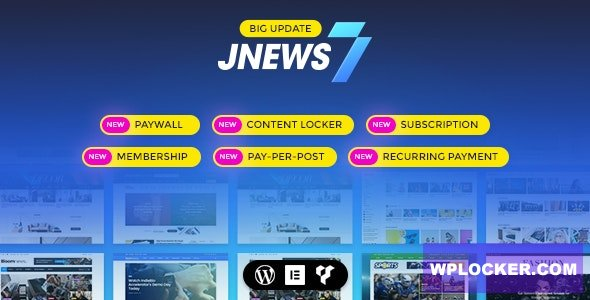 JNews v7.1.6 - WordPress Newspaper Magazine Blog AMP