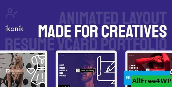 Ikonik v1.0.1 – Resume vCard WordPress Theme