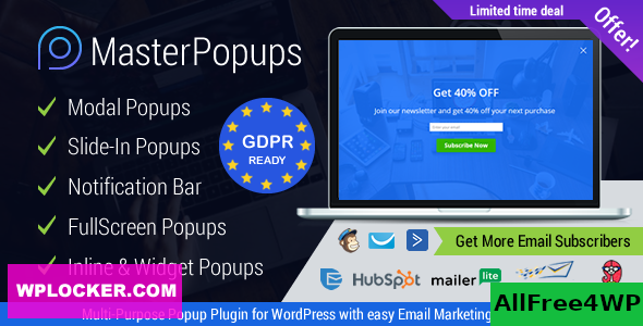 Master Popups v3.6.0 - Popup Plugin for Lead Generation