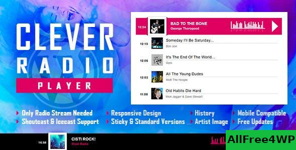 CLEVER v1.7.0 - HTML5 Radio Player With History - Shoutcast and Icecast - WordPress Plugin