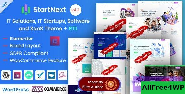 StartNext v4.3 - IT Startups WordPress Theme