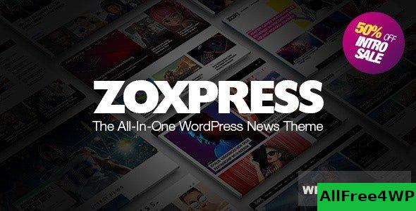 ZoxPress v2.0.0 - All-In-One WordPress News Theme