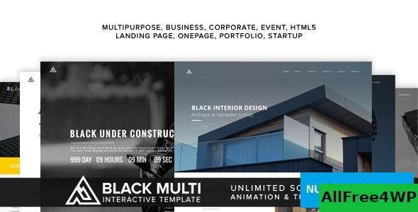 Black v1.0 – Multi Interactive Template