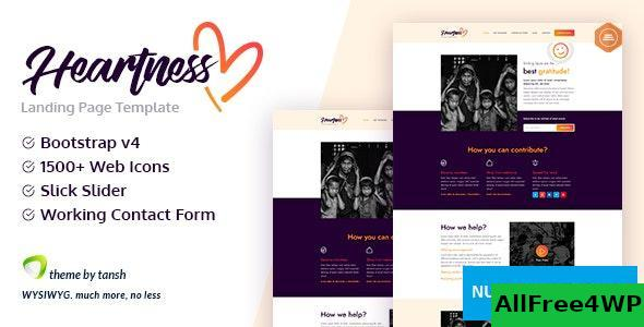 Heartness v1.0 – Fundraising / Donation Landing Page