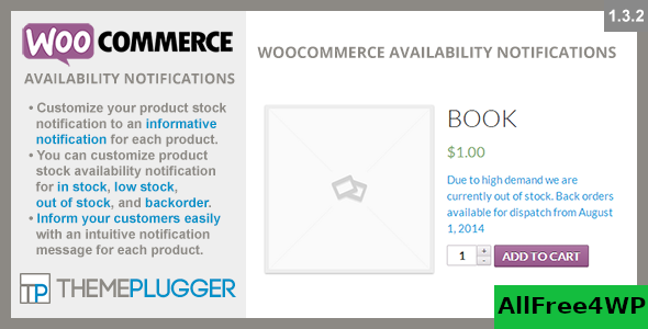 WooCommerce Availability Notifications v1.4.2