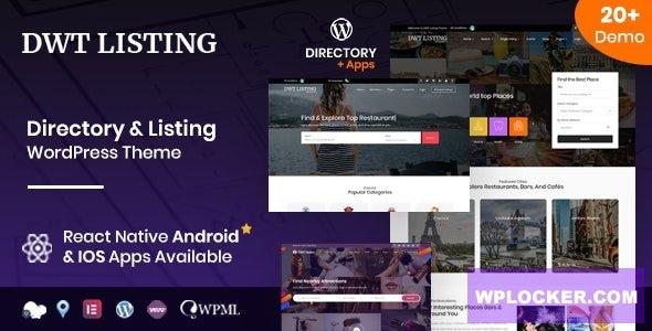 Download 🔝 DWT v3.1.6 - Directory & Listing WordPress Theme