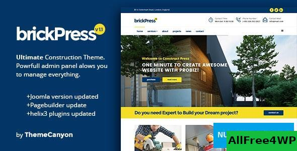 BrickPress v1.1 - Construction & Business Joomla Template