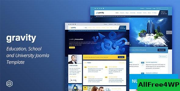 Gravity v2.7.1 - Education Joomla Template