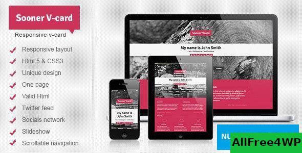 Sooner v1.0 - Responsive One Page V-card Template