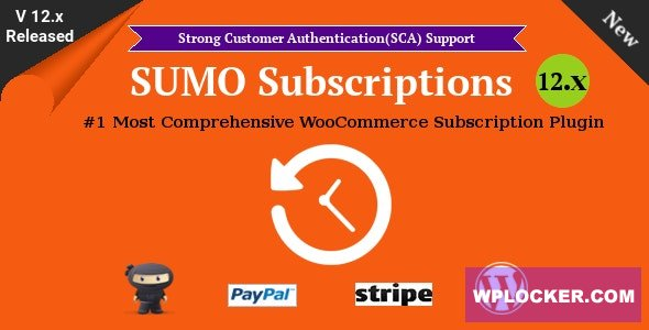 SUMO Subscriptions v12.3 - WooCommerce Subscription System