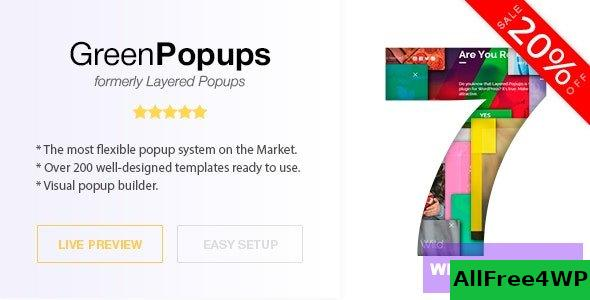 Green Popups (formerly Layered Popups) v7.1.4 - Popup Plugin for WordPress