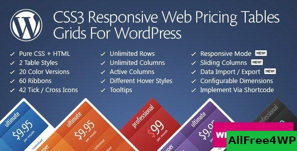 CSS3 Responsive Web Pricing Tables Grids v11.3