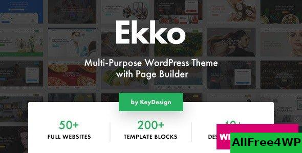Ekko v2.4 - Multi-Purpose WordPress Theme with Page Builder
