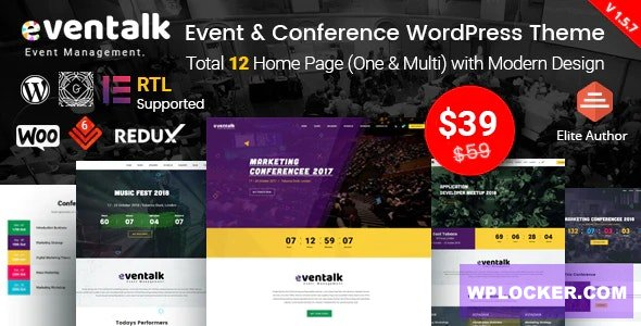 EvnTalk v1.6.4 - Event Conference WordPress Theme