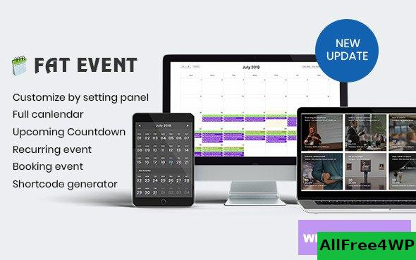 FAT Event v4.5.0 - WordPress Event and Calendar Booking