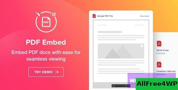 PDF Embed v1.1.1 - WordPress PDF Viewer plugin
