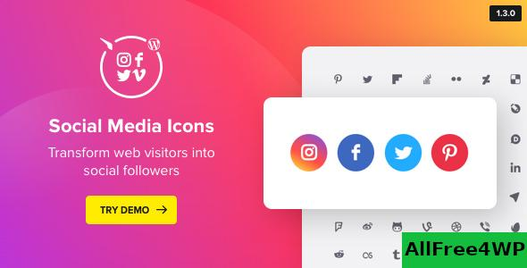 WordPress Social Media Icons v1.7.1 - Social Icons Plugin
