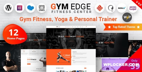Gym Edge v4.2.1 - Gym Fitness WordPress Theme