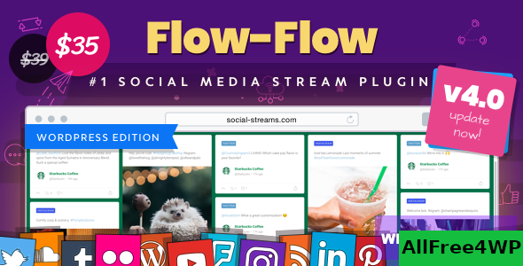 Flow-Flow v4.7.0 - WordPress Social Stream Plugin