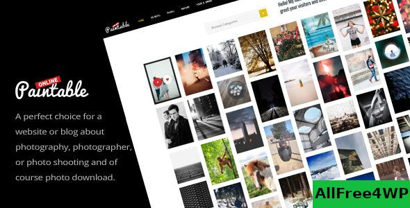 Paintable v2.4 - Photography and Blog / Photos Download Theme