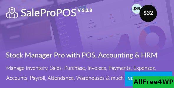 SalePro v3.3.8 - Inventory Management System with POS, HRM, Accounting