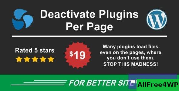Deactivate Plugins Per Page v1.12.0 - Improve WordPress Performance