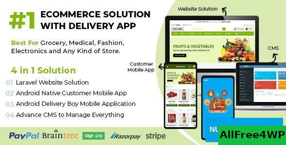 Ecommerce Solution with Delivery App For Grocery v1.0.7
