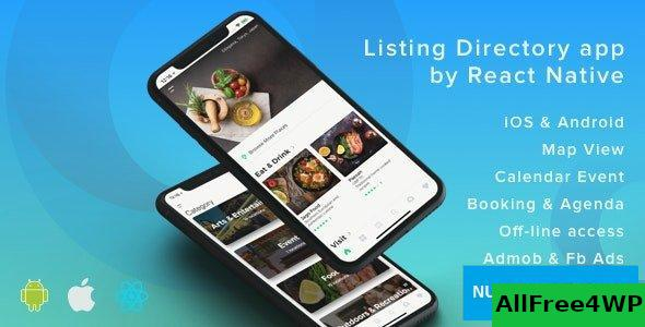 ListApp v1.8.0 - Listing Directory mobile app by React Native (Expo version)
