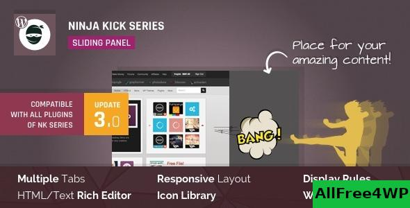 Download 🔝 Ninja Kick: Sliding Panel for WordPress v3.0.16