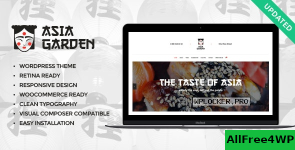 Asia Garden v1.2.1 – Asian Food Restaurant WordPress Theme