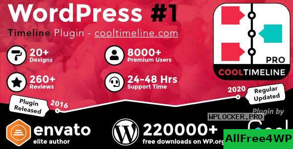 Cool Timeline Pro v3.5.2 – WordPress Timeline Plugin