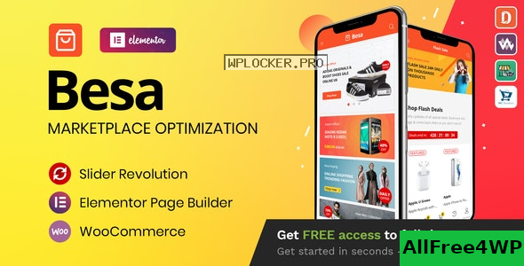 Besa v1.2.9 – Elementor Marketplace WooCommerce Theme